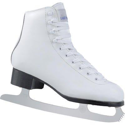 Lake Placid 2010/11 Women's Elite Leather 691 Figure Ice Skates - White (11)