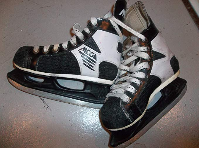 Hespeler Mega 55 Ice Hockey Skates - Size 12.0 (Youngster) - Good Condition