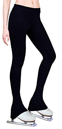 Ice Figure Skating Dress Practice Pants Black - Adult Large