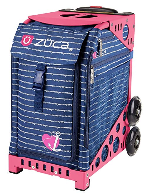 ZUCA Sport Rolling Suitcase -Anchor My Heart Insert Bag (Name Tag Included), Choose Your Frame